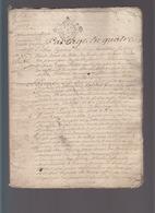 Bretagne - Juillet 1723 - Succession Pierre Artur De Lamotte /biens à Saint-malo / De La Senerais Sénéchal De Dinan / - Cachets Généralité