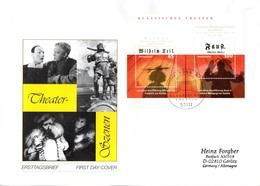 """BRD Großformatiger Schmuck-FDC  """"Klassisches Theater"""", Mi. Block 65 ESSt 11.3.2004 BONN - BRD"""