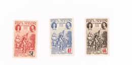3 ème Centenaire Du Rattachement à La France.Tvert 180,183,184. (x),No Gum,Neuf Sans Gomme. - Réunion (1852-1975)