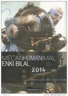BD - Carte-programme - Mécanhumanimal - Enki Bilal - Exposition Paris 2013-2014 Au Musée Des Arts Et Métiers - Livres, BD, Revues