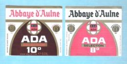 BROUWERIJ DE SMEDT - OPWIJK - ABBAYE D'AULNE - ADA SELECTION 10° - ADA SELECTION 8 °  - 2 BIERETIKETTEN  (BE 114) - Beer