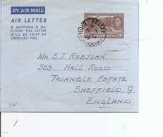 Honduras Britannique ( Aérogramme De 1953 De Bélize Vers La Grande-Bretagne à Voir) - Honduras Britannique (...-1970)