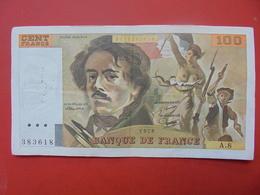 FRANCE 100 FRANCS 1978 ALPHABET A.8 CIRCULER - 1962-1997 ''Francs''
