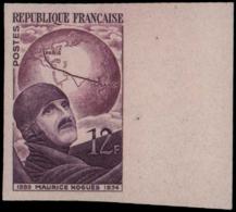 FRANCE Essais  907 Essai Bicolore En Lie De Vin, Bdf: Maurice Noguès, Aviateur - Proofs