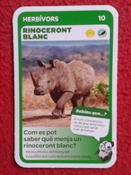 SPAIN ANTIGUO CROMO RARE OLD COLLECTIBLE CARD EL RINOCERONTE BLANCO RHINO RHINOCEROS RHINOS RHINOCEROSES FRIGO VER FOTOS - Chromos