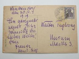 1919 ,Wankendorf, Notstempel  Kais. Postamt Wankendorf, Auf Karte - Deutschland