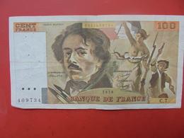 FRANCE 100 FRANCS 1978 ALPHABET C.7 CIRCULER - 1962-1997 ''Francs''