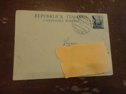 CARTOLINA POSTALE LIRE 20-1952 - 6. 1946-.. Repubblica