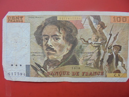 FRANCE 100 FRANCS 1978 ALPHABET C.8 CIRCULER - 1962-1997 ''Francs''