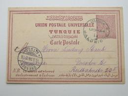 1898 , SALONIQUE ,  Klarer Stempel  Auf Ganzsache , Absender: SKUTARI - 1858-1921 Osmanisches Reich