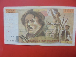 FRANCE 100 FRANCS 1978 ALPHABET D.4 CIRCULER - 1962-1997 ''Francs''