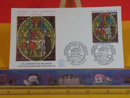 Le Jugement De Salomon (vitrail)- 67 Strasbourg - 13.4.1985 FDC 1er Jour N°1419 - Coté 4,50€ - 1980-1989