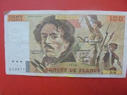 FRANCE 100 FRANCS 1978 ALPHABET D.6 CIRCULER - 1962-1997 ''Francs''