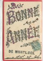 CPA 01 AIN Bonne Année De Montluel CDV Carte De Voeux - Montluel
