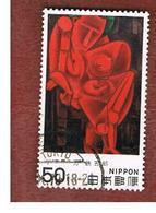 GIAPPONE  (JAPAN) - SG 1534   -   1979  MODERN ART: LEANING FIGURE      - USED° - 1926-89 Imperatore Hirohito (Periodo Showa)