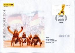 """BRD Großformatiger Schmuck-FDC (Deutsche Post)  """"Für Den Sport 2004 - FIFA-Pokal"""", Mi. 2386 ESSt 5.2.2004 BERLIN ZENTRUM - BRD"""