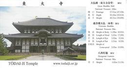 Japan / Japon - Nara - Todai-ji - Used Ticket 2018 - Tickets D'entrée