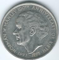Jamaica - Elizabeth II - 5 Dollars - 100th Anniversary Of Birth Of Norman Manley - 1993 (KM157) - Jamaique