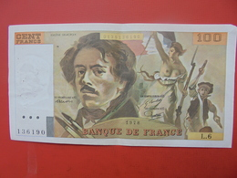 FRANCE 100 FRANCS 1978 ALPHABET L.6 CIRCULER - 1962-1997 ''Francs''