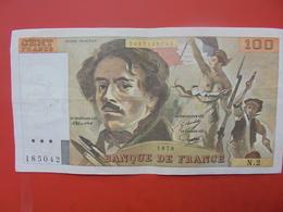 FRANCE 100 FRANCS 1978 ALPHABET N.2 CIRCULER - 1962-1997 ''Francs''