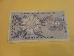 BANCONOTA 20 FRANCHI SVIZZERI-1963 - Svizzera
