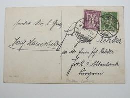 1921, Firmenlochung, Perfin, Karte Aus WEDEL,  Lochung : Mohr & Co - Deutschland