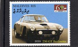 Ferrari 250 GTO Berlinetta   (1959)  -  Maldives  -  1v MNH/Neuf/Mint - Automovilismo