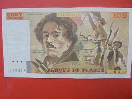FRANCE 100 FRANCS 1978 ALPHABET Q.4 CIRCULER - 1962-1997 ''Francs''