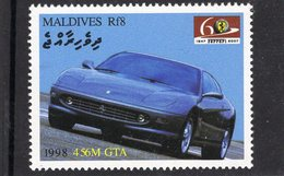 Ferrari 456M GTA   (1998)  -  Maldives  -  1v MNH/Neuf/Mint - Automovilismo