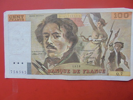 FRANCE 100 FRANCS 1978 ALPHABET Q.7 CIRCULER - 1962-1997 ''Francs''