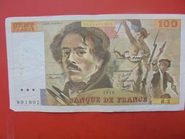FRANCE 100 FRANCS 1978 ALPHABET R.2 CIRCULER - 1962-1997 ''Francs''