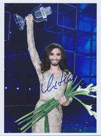 CONCHITA  AUTOGRAPHE / AUTOGRAMM  Photo 20/27 Cm *Winner Eurovision Song Contest 2014 * - Autographes