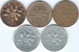 Jamaica - Elizabeth II - 1 Cent - 1969 (KM45) 1973 (KM52) 1975 (KM51) 1977 (KM68) 1990 (KM64) - Jamaique