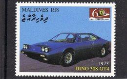Ferrari Dino 308 GT4   (1973)  -  Maldives  -  1v MNH/Neuf/Mint - Automovilismo