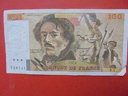 FRANCE 100 FRANCS 1978 ALPHABET S.1 CIRCULER - 1962-1997 ''Francs''
