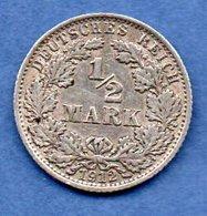 Allemagne -  1/2 Mark 1912 A -  état   TTB - [ 2] 1871-1918 : Imperio Alemán