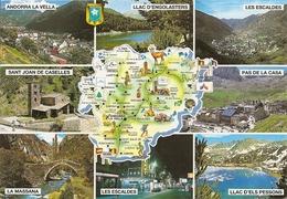 Cpm Andorre La Carte - Andorre