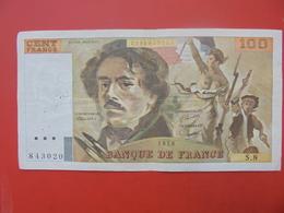 FRANCE 100 FRANCS 1978 ALPHABET S.8 CIRCULER - 1962-1997 ''Francs''