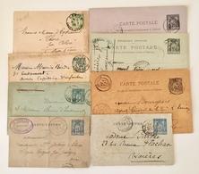 France - Lot De 8 Entiers Postaux Au Type Sage - Utilisés - (B2016) - Lots Et Collections : Entiers Et PAP