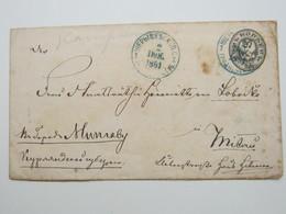 1881 , Ganzsache Mit Blauem Stempel - 1857-1916 Imperium