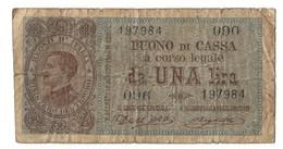 Italy 1 Lira 21/09/1914 - [ 1] …-1946 : Royaume