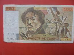 FRANCE 100 FRANCS 1978 ALPHABET T.9 CIRCULER - 1962-1997 ''Francs''