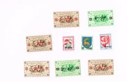 Série De Londres,Taxe,blasons MNH,Neuf Sans Charnière,Falzlos.Yvert 252/6,258,,342,373,Taxe 48 - Réunion (1852-1975)