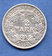 Allemagne -  1/2 Mark 1916 G -  état   TTB - [ 2] 1871-1918 : Empire Allemand