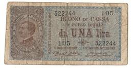 Italy 1 Lira 21/09/1914 - [ 1] …-1946 : Regno
