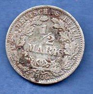 Allemagne -  1/2 Mark 1906 A -  état   TB - [ 2] 1871-1918 : Imperio Alemán