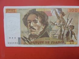 FRANCE 100 FRANCS 1978 ALPHABET X.3 CIRCULER - 1962-1997 ''Francs''