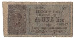 Italy 1 Lira 28/12/1917 - [ 1] …-1946 : Royaume