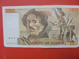 FRANCE 100 FRANCS 1978 ALPHABET X.8 CIRCULER - 1962-1997 ''Francs''