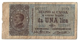Italy 1 Lira 28/12/1917 - [ 1] …-1946 : Regno